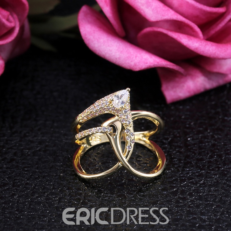 Ericdress Diamante Romantic Engagement Women's Rings