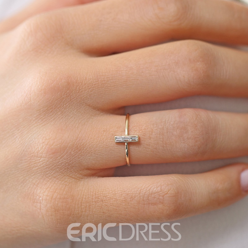 Ericdress Romantic Diamante Charm Holiday Rings