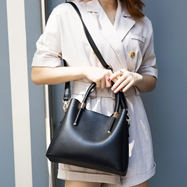 Ericdress PU Thread Plain Casual Rectangle Tote Bags