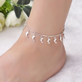 Ericdress Silver Sweet Female Animal Anklets
