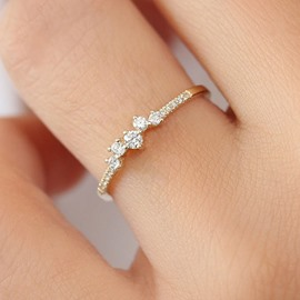 Ericdress Diamante Romantic Birthday Rings