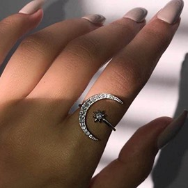 Ericdress Romantic Diamante Engagement Female Rings