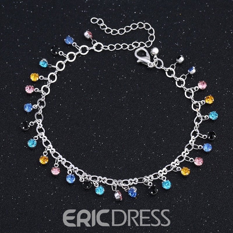Ericdress Diamante Color Block Sweet Anklets