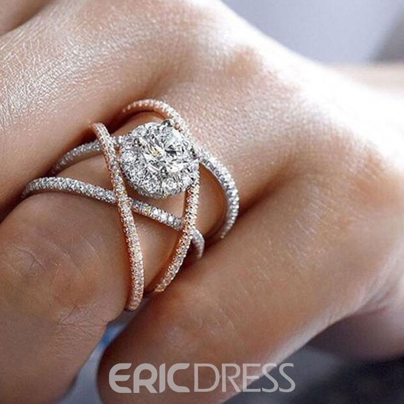 Ericdress Diamante Romantic Holiday Women's Rings