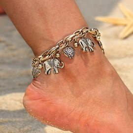 Ericdress Alloy Fashion E-Plating Female Anklets