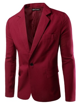 Ericdress Slim One Button Casual Men's Leisure Blazers