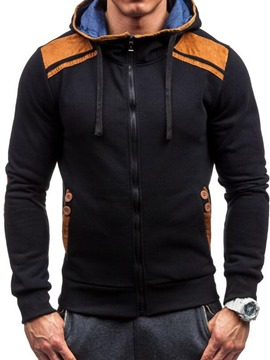 Ericdress Patchwork Cardigan Thick Zipper Men's Hoodies