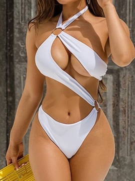 Ericdress Sexy Plain Women's One Piece Swimwear