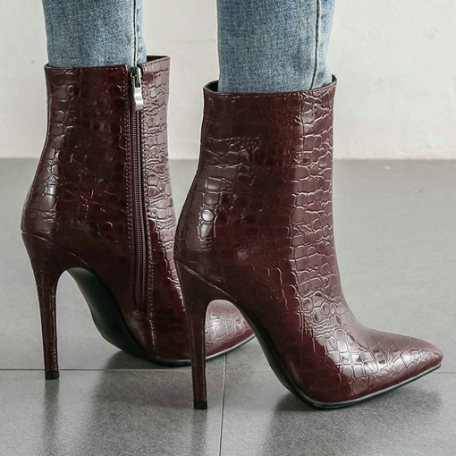 Ericdress Pointed Toe Plain Side Zipper Casual Boots