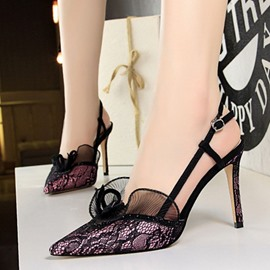 Ericdress Pointed Toe Stiletto Heel Buckle Sandals