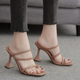 Ericdress Thread Spool Heel Slip-On Sexy Slippers