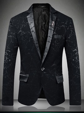 Ericdress Fashion Print Slim Men's Leisure Blazers
