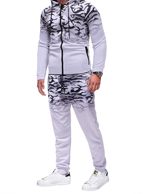 Ericdress Pants Print Sports Men's Outfit