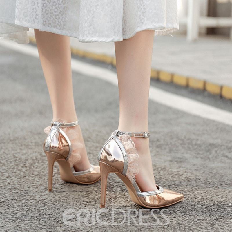 Ericdress Line-Style Pointed Toe Buckle Pumps