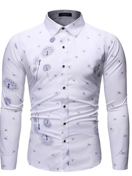 Ericdress Plant Casual Lapel Single-Breasted Men's Shirt
