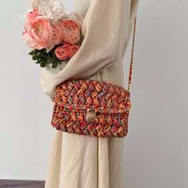 Ericdress Knitted Cotton Rectangle Crossbody Bags