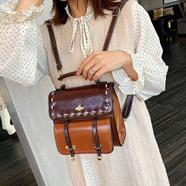 Ericdress PU Patchwork Casual Female Backpacks