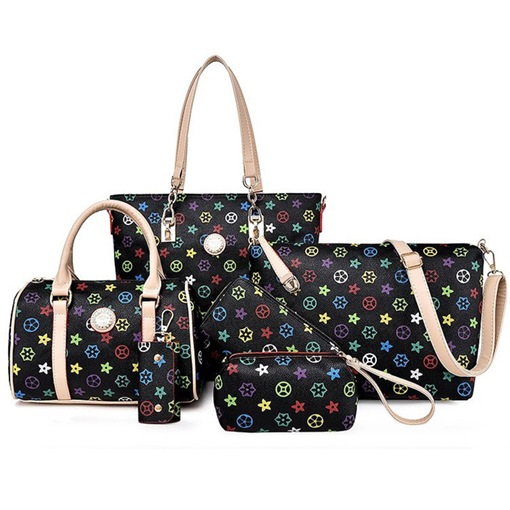 Ericdress PU Floral Thread Rectangle Tote Bags
