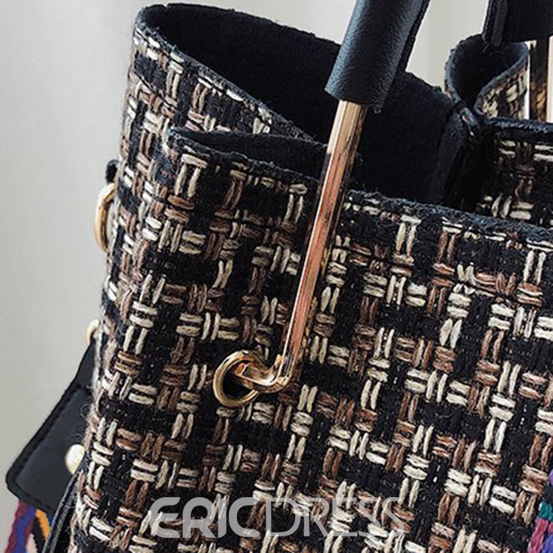 bolsas de mano ericdress thread rectángulo pu