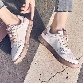 Ericdress Lace-Up Cross Strap Round Toe Color Block Sneakers