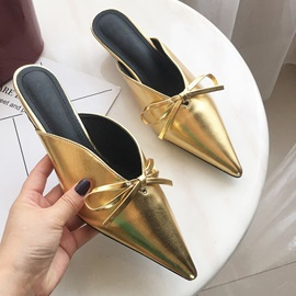 Ericdress Stiletto Heel Slip-On Thread Korean Slippers