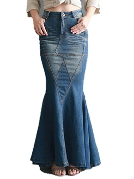 Ericdress Floor-Length Mermaid Zipper Western Women's Skirt