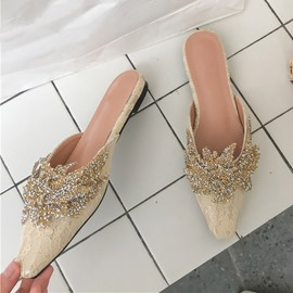 Ericdress Slip-On Closed Toe Thread Rubber Slippers