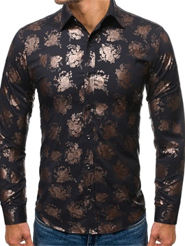 Ericdress Print Floral Casual Single-Breasted Men's Shirt