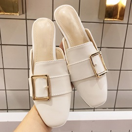 Ericdress Slip-On Block Heel Buckle Rubber Slippers