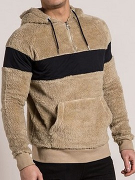 Ericdress Patchwork Pullover Thick Fall Men's Hoodies