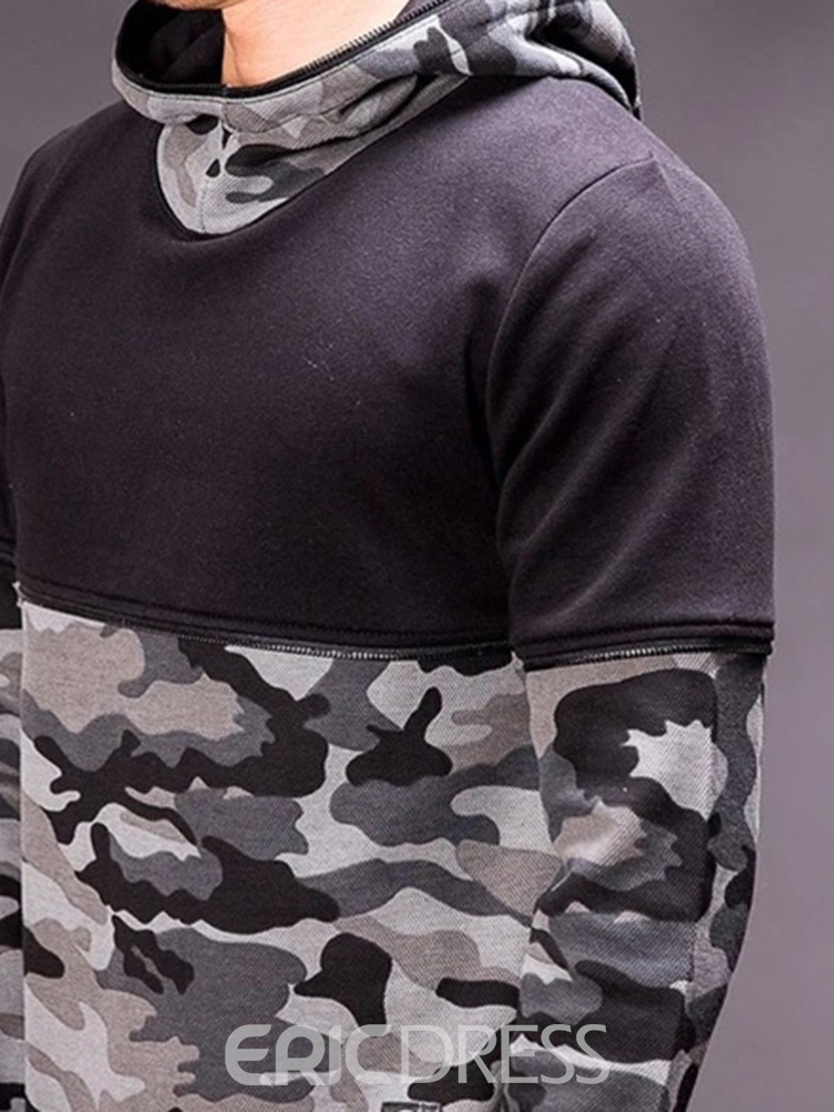 Ericdress Pullover Camouflage Thick Pullover Men's Casual Hoodies