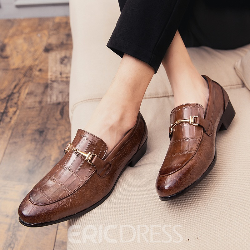 Ericdress PU Low-Cut Upper Round Toe Men's Oxfords