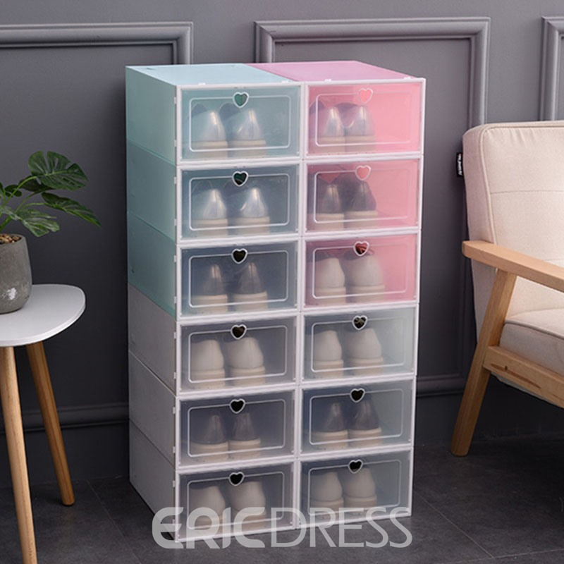 Ericdress Heart Shaped Shoebox Simple Storage Boxes