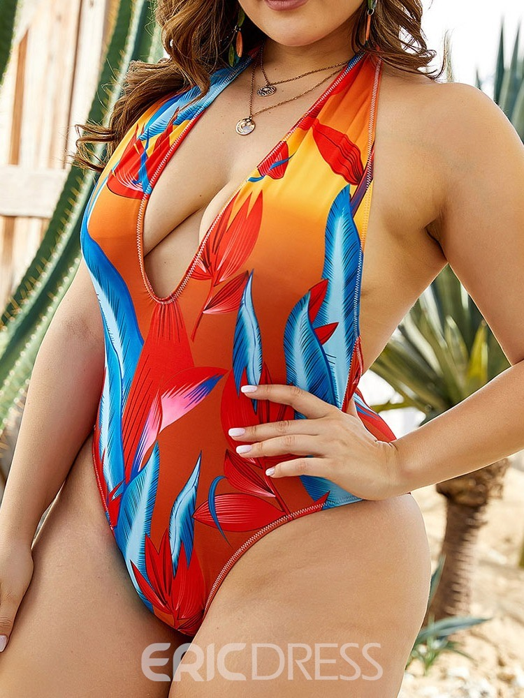 Ericdress Plant Women's One Piece Sexy Swimwear