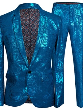 Ericdress One Button Fashion Print Men's Dress Suit