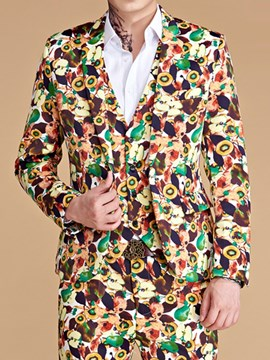 Ericdress Fashion Blazer Print Men's Dress Suit