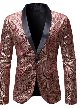 Ericdress Slim One Button Print Men's Leisure Blazers