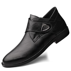 Ericdress Low-Cut Upper Plain Round Toe Men's Leather Shoes