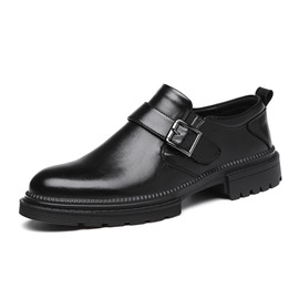 Ericdress Low-Cut Upper Plain Round Toe PU Men's Oxfords