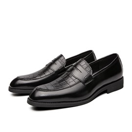 Ericdress Color Block Low-Cut Upper PU Men's Oxfords