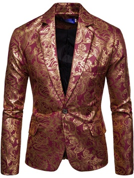 Ericdress One Button Print Notched Lapel Men's Leisure Blazers