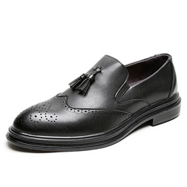Ericdress Plain Low-Cut Upper PU Men's Leather Shoes