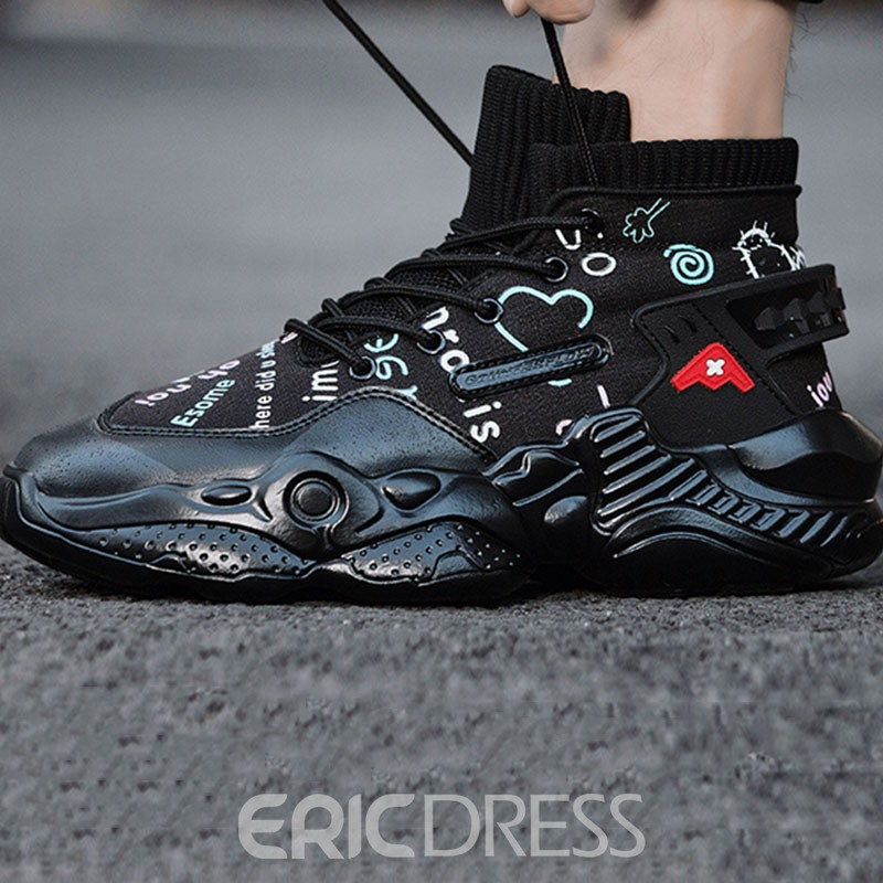 Ericdress Sports Outdoor Lace-Up Round Toe Men's Sneakers