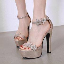 Ericdress Chunky Heel Buckle Heel Covering Sandals