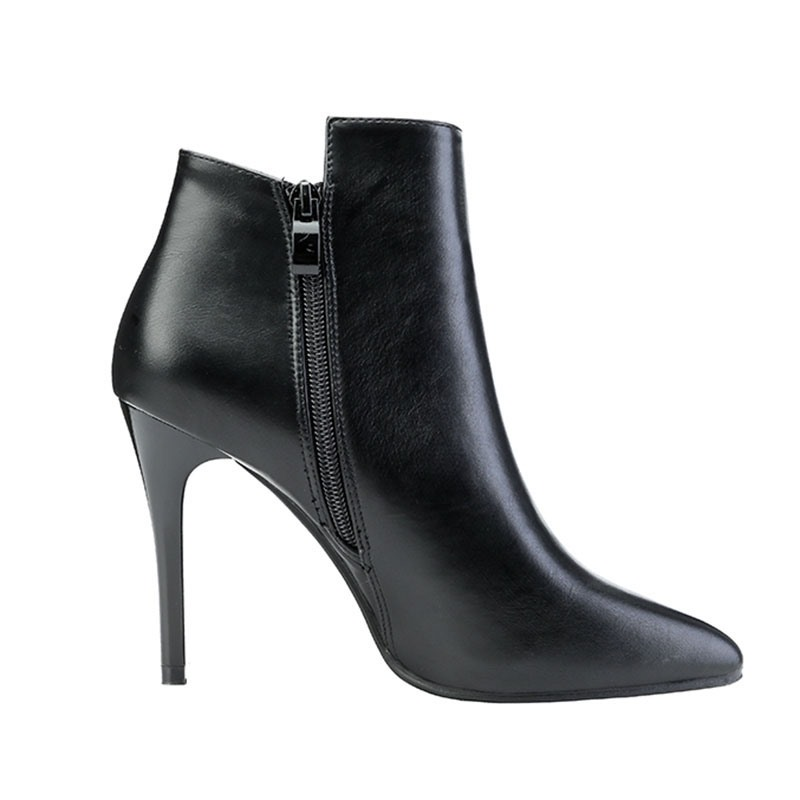 Ericdress Side Zipper Color Block Pointed Toe Buckle Boots