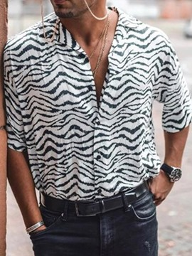 Ericdress Print Casual Zebra Stripe Men's Single-Breasted Shirt