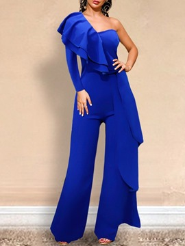 ericdress jumpsuit holgado liso occidental de cuerpo entero