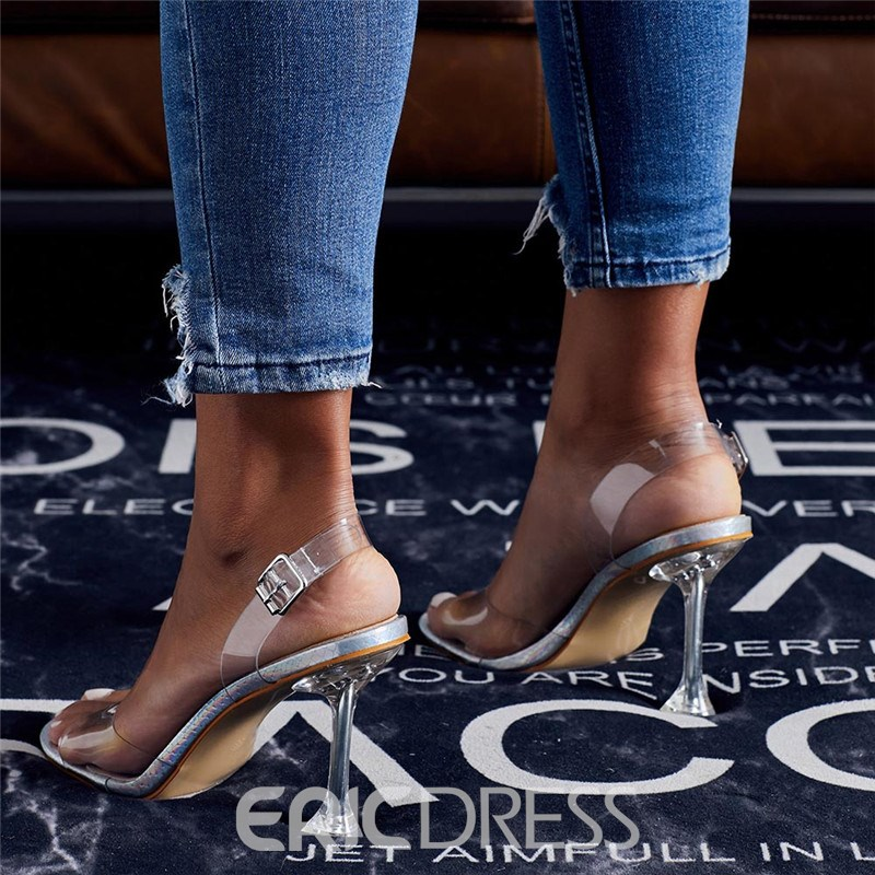 Ericdress Buckle Open Toe Slingback Strap Western Sandals