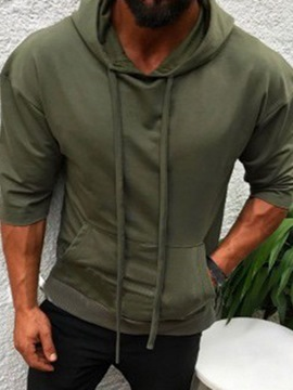 Ericdress Pullover Thin Plain Men's Casual Hoodies