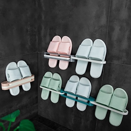 Ericdress Bathroom Wall-Mounted Slippers Simple Shoe Rack Care Commodity Shelf